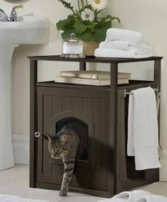 I've been wanting one of these! One day... FABULOUS way to hide the cat box!!!