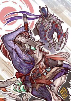 Character Creation, Character Concept, Character Art, Concept Art, Character Design, Ninja Scroll Anime, Warframe Art, Hollow Art, Fantasy Armor