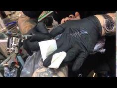 Tattoo #14 (2015): Video of Adam Lambert getting more work done on his sleeve | Source: Sang Bleu snapchat