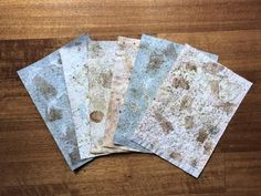 Easy step-by-step process on making this Faux Handmade Paper to use in your crafting projects! I am so happy to be invited by Jolene and Lucy of 'Live Art Jo. Diy Paper, Paper Crafts, Paper Art, Diy Christmas Presents, Art Journal Techniques, Handmade Books, How To Make Paper, Paper Texture, Paper Design