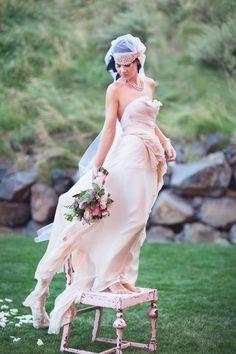 Before Sunrise- Royal Blush Wedding Gown