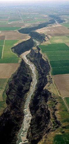 The Snake River & Canyon near Twin Falls, Idaho