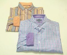 Johnston & Murphy Tailored Fit XL Flip Cuff Men's Button Front Shirts LOT OF…