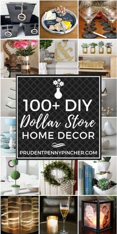 100 Dollar Store DIY Home Decor Ideas. 100 Dollar Store DIY Home Decor Ideas From centerpieces and planters to wall decor and organization ideas, there are over a hundred creative and fun dollar store DIY home decor ideas to make. Diy Home Decor Rustic, Diy Home Decor Projects, Easy Home Decor, Diy Home Crafts, Home Decor Bedroom, Cheap Home Decor, Decor Crafts, Decor Diy, Bedroom Ideas