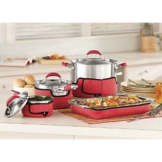 Our Set of 4 Cookware Covers makes sure all your delicious dishes arrive ready to serve! ~ www.ginnys.com