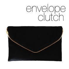 functional zip front envelope clutch