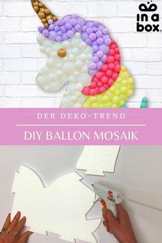 Den super Deko-Trend Ballon Mosaik aus den USA gibt es nun endlich auch bei uns! Ganz einfach zu Hause nachbasteln, alles was Du dafür benötigst schicken wir Dir ganz bequem in einer Box nach Hause! Auf unserem Blog zeigen wir Dir, wie Du Dein Ballon Mosaik dann ganz einfach aufbauen kannst!