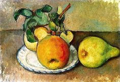 Still Life with Apples and a Pear Paul Cezanne - 1888-1890