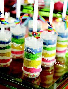 Rainbow Love Mini Cake Push Pops