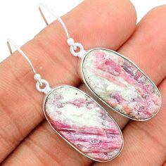 Pink Tourmaline in Quartz 925 Sterling Silver Earrings Jewelry PTQE68