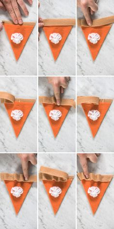 DIY Thanksgiving Pumpkin Pie Felt Garland Banner with a step by step tutorial! Seriously so easy to make, this tutorial has SO many photos! Autumn Crafts, Thanksgiving Crafts, Thanksgiving Decorations, Holiday Crafts, Felt Garland, Diy Garland, Diy Banner, Felt Banner, Crafty Craft