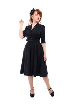 Collectif Vintage Alexandria Flared Dress