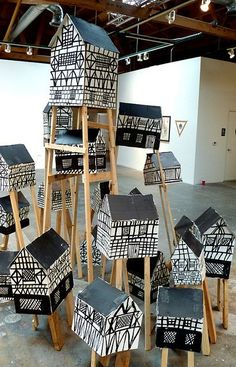 5 Inspiring Cardboard Castles and Houses - Petit & Small...totally smitten by cardboard!! #amazing