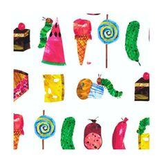 The-Very-Hungry-Caterpillar-Fruit-Cake-Candy-100-Cotton-Fabric-Makower