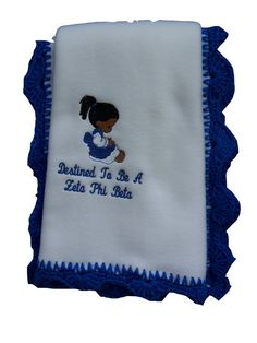 Destined to be a Zeta Phi Beta  Fleece Blanket by MoDessaDesigns, $27.00