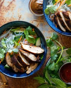 Bursting with the flavors of Vietnam, this main-course salad combines gluten-free noodles with chicken glazed with our paleo hoisin sauce. #Paleo #Gluten-Free #Dairy-Free #Soy-Free