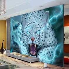 antasy Leopard Wallpaper Animal photo wallpaper Personalized Custom 3D Wall Mural Room Decor Kid Bedroom Unique Interior Design