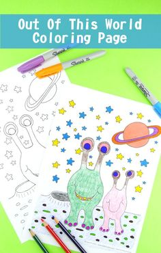 alien coloring page free printable - Html Color Sheet