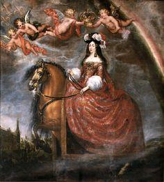 Francisco Ricci 'Equestrian Portrait of Maria Luisa de Orleans', 1679 Portraiture, Art History, Illustration, Portrait Painting, Art Reproductions, Art, Artist, Horse Art, Painting
