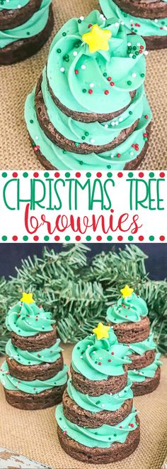 Christmas Tree Brownies | Christmas Dessert | Cute Holiday Treats | Easy Party Recipe  #christmastree #christmasdessert