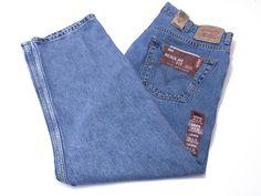 Levi's 505 44 x 29 Men's Regular Fit Straight Leg Blue Jeans Cotton NEW NWT #Levis #ClassicStraightLeg