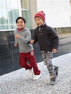 Warme Strickpullis für kalte Herbsttage.  #vertbaudet #Herbst #Winter #2015 #Kinderkleidung #Jungenmode