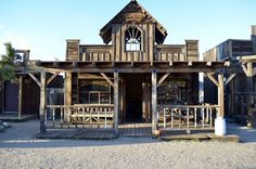 This Town in the California Desert Is Actually an Old Western Movie Set Old Western Towns, Old Western Movies, Pub Design, Restaurant Design, Sky Blue Paint, Rustic Shed, Old West Town, Western Saloon, Bar Shed