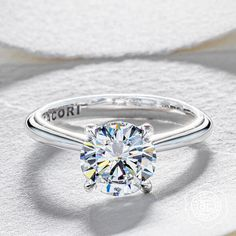 Tacori solitaire 4 prong engagement ring from Diamonds Direct. #tacori #4prong #solitaire #engagementring #diamond