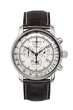 d68b5dfebaa Graf Zeppelin Alarm Chronograph Watch 7680-1 Luxusní Hodinky
