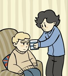 "So cute. Gif. ""Tea. Make me tea, John."" Click for artist blog.. as always when I pin from this artist.. be aware the background of the blog is a drawing of John in a red thong flipping you off."