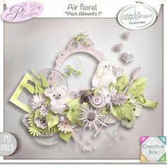 """Air Floral"" de Plidesigns - Creative Box  En exclu chez Digital Créa  https://digital-crea.fr/shop/index.php?main_page=index&manufacturers_id=151"