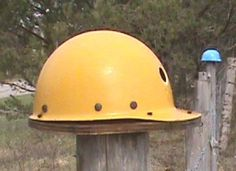 Recycled Hard Hat Bird House