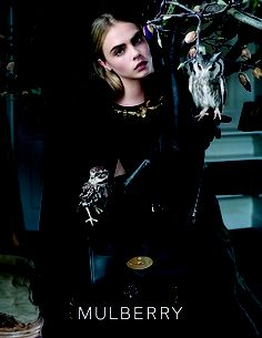 Mulberry Fall 2013: Cara Delevingne photographed by Tim Walker.  Photo courtesy of Mulberry