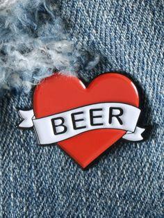 Love Beer Enamel Pin - Gypsy Warrior