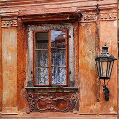 Cesky Krumlov Window- Cesky Krumlov, Czech Republic