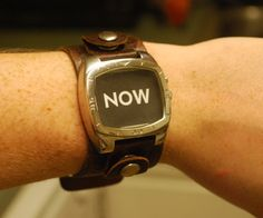 Upcycled NOW Watch--Picture Frame on Your Wrist!
