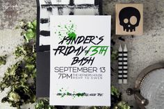 The Makerista: The Making of a Party: Xander's 4th on Friday the 13th   The Invitations #halloween #fridaythe13th #fall
