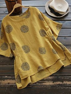 Plus Size Half Sleeve Casual Polka Dot Shirt – ModfancyPlus Size Long Sleeve Polka Dot Printed Loose Blouse Tops – sheciciV-Neck Shift Women Short Sleeve Casual Solid Summer Dress – sheciciPlus Size Geometric Vintage Round Neckline Sleeves Blou Shirts & Tops, Shirt Blouses, Women's Tops, Linen Shirts, Plus Size T Shirts, Plus Size Blouses, Bell Sleeve Blouse, Short Sleeve Blouse, Long Blouse