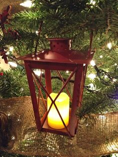 mini red lanterns to put in the tree with battery operated votive