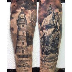 Nautical tattoo sleeve, anchor sleeve tattoo, pirate tattoo sleeve, s 3d Tattoos, Body Art Tattoos, Tattoos For Guys, Cool Tattoos, Ocean Tattoos, Nautical Tattoo Sleeve, Leg Sleeve Tattoo, Nautical Tattoos, Pirate Tattoo Sleeve