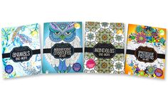 Kaleidoscope Adult Coloring Books (4-Pack)