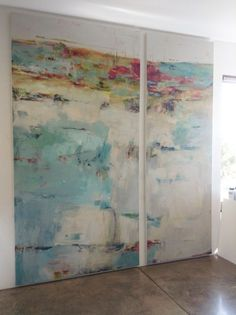 Martha Rea Baker | Santa Fe Artist working in Encaustic, Acrylic Collage and Oil/Cold Wax. Love this style and scale.