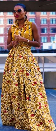 Fashion Flashback: Return of the African print long dress - Ghana Vibes