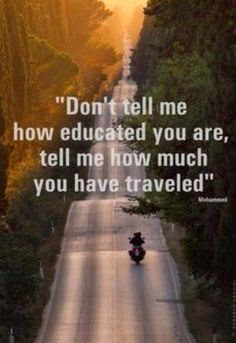 Tell me how much you've travelled