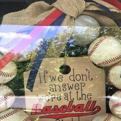 Baseball Wreath Burlap With Initial Made Using Real Leather Softball Wreath, Baseball Wreaths, Painted Wooden Signs, Wooden Tags, Burlap Ribbon, Burlap Wreath, Baseball Party Supplies, Baseball Nursery, Wooden Initials