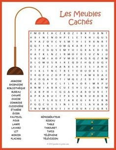 Familiarize your French language students with furniture vocabulary. while they…