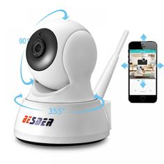 Be with your Family every time with this Home Security IP CCTV WiFi Camera Two Way Audio Wireless Mini Camera and Night Vision Smartphone, Wireless Ip Camera, Wireless Security Cameras, Wireless Home Security Systems, Security Cameras For Home, Security Alarm, House Security, Security Products, Security Tips