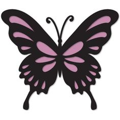 Silhouette Design Store - browse-my-designs Butterfly Stencil, Butterfly Drawing, Butterfly Template, Flower Template, Butterfly Pattern, Butterfly Cards, Butterfly Design, Blue Butterfly, Kirigami