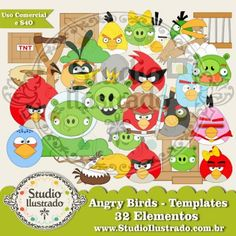 Angry Birds, Digital Kit, Templates