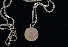 Lady's 2.5 Dollar Gold Piece Necklace